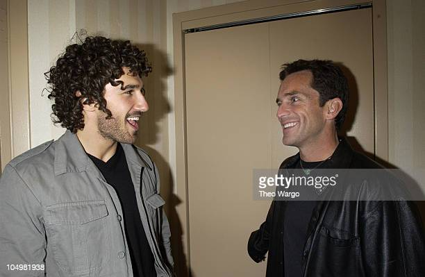 Survivor Ethan Zohn and Jeff Probst during Survivor Marquesas props and memorabilia to be sold on eBay to benefit The Elizabeth Glaser Pediatric Aids...