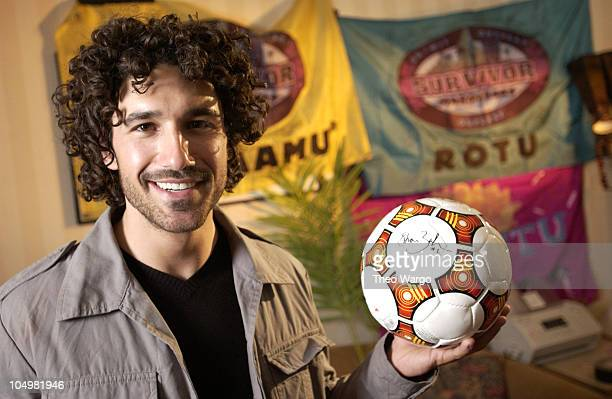 Survivor Ethan Zohn during Survivor Marquesas props and memorabilia to be sold on eBay to benefit The Elizabeth Glaser Pediatric Aids Foundation in...
