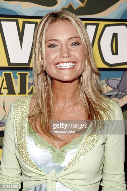 Survivor finalist Jennifer Lyon poses fro photos at the end of the Survivor Palau Finale/Reunion Show in the Ed Sullivan Theater May 15 2005 in New...