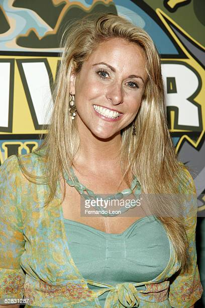Survivor finalist Katie Gallagher poses fro photos at the end of the Survivor Palau Finale/Reunion Show in the Ed Sullivan Theater May 15 2005 in New...