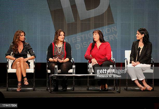 Survivor/ Host Charisma Carpenter survivors Teri JendusaNicolai Lisa McVey and producer Pamela Deutsch speak onstage at the Surviving Evil With...