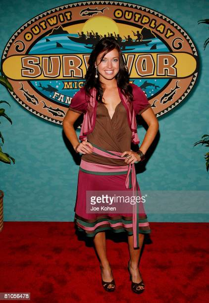 Survivor Micronesia Winner Parvati Shallow arrives at the Survivor Micronesia Fans vs Favorites Finale at the Ed Sullivan Theatre on May 11 2008 in...