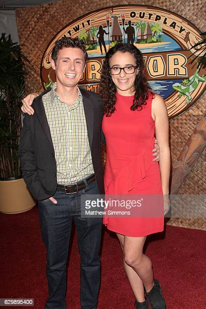 Survivor Millennials vs Gen X winner Adam Klein and TV personality Hannah Shapiro attend CBS's 'Survivor Millennials Vs Gen X' season finale at CBS...