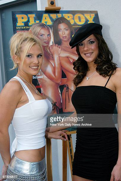 Survivor The Amazon contestant Heidi Strobel and winner Jenna Morasca unveil the August Playboy with their picture on the cover at Suede