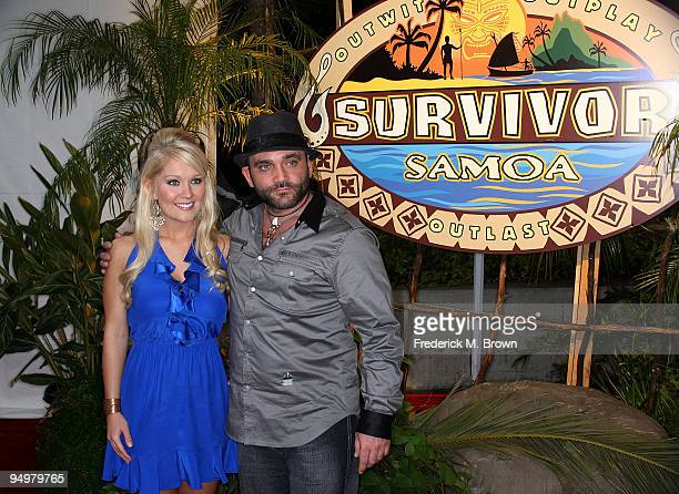 Survivor winner Natalie White and runner up Russell Hantz attend the season finale of the television show Survivor Samoa Castaways at CBS Television...