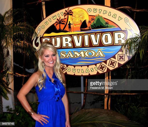 Survivor winner Natalie White poses after Survivor Samoa Finale on December 20 2009 in Los Angeles California