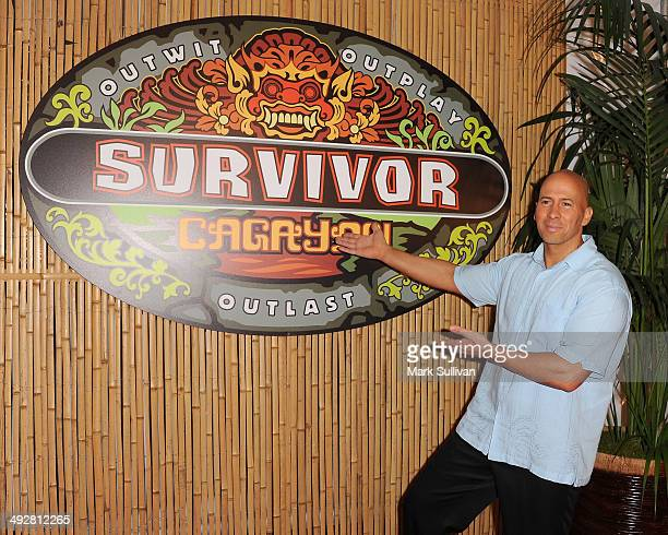 Survivor winner Tony Vlachos poses following CBS's Survivor 28 season finale at CBS Studios Radford on May 21 2014 in Studio City California