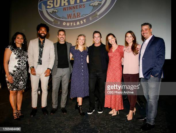 Survivor Winners at War Premiere Party Pictured Sandra DiazTwine Wendell Holland Ethan Zohn Sophie Clarke Jeff Probst Parvati Shallow Amber Brkich...