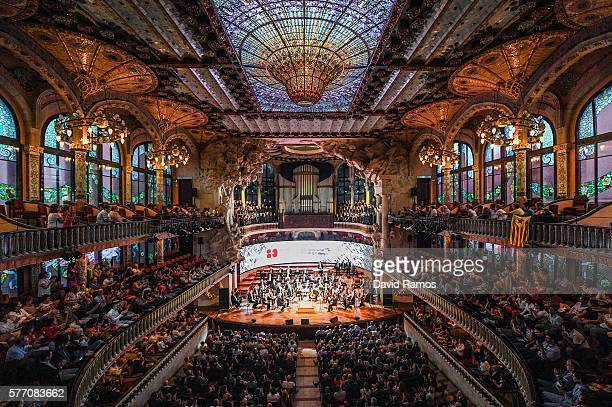 Survivors and relatives of victims of the Spanish Civil War attend a concert at El Palau de la Musica on July 18 2016 in Barcelona Spain The biggest...