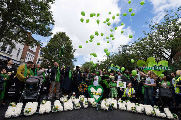 GBR: 'Humanity For Grenfell' Commemorations In London