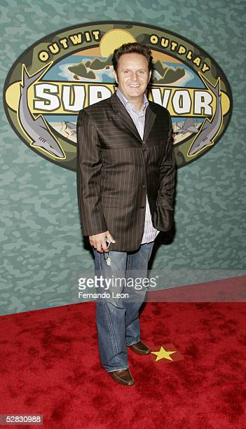 Survivor's creator/executive producer Mark Burnett arrives at the Survivor Palau Finale/Reunion Show at the Ed Sullivan Theater May 15 2005 in New...