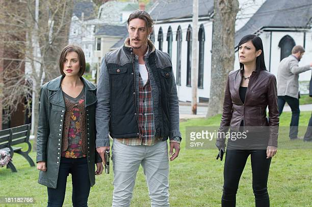 HAVEN 'Survivors' Episode 402 Pictured Emma Lahana as Jennifer Mason Eric Balfour as Duke Crocker Kate Kelton as Jordan McKee