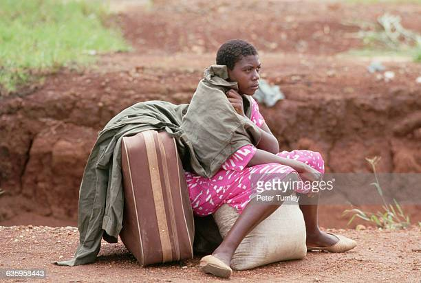 Survivors fled the Lake Nyos area on August 21 after volcanic activity released poisonous gases that killed 1746 villagers