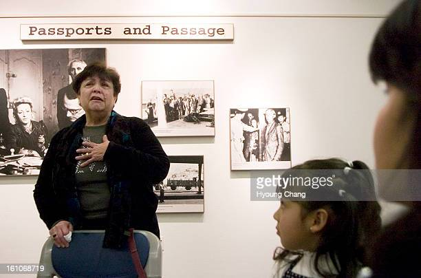survivors Francisca Alvarez of Aurora right and her daughter Annie and about 100 visitors are sharing the experience of holocaust survivor Miriam...