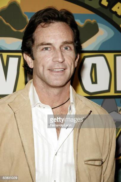 Survivor's host Jeff Probst arrives at the Survivor Palau Finale/Reunion Show at the Ed Sullivan Theater May 15 2005 in New York City