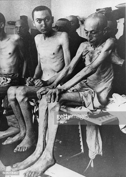 Survivors in the concentration camp AuschwitzBirkenau after the liberation Poland Photograph 1945