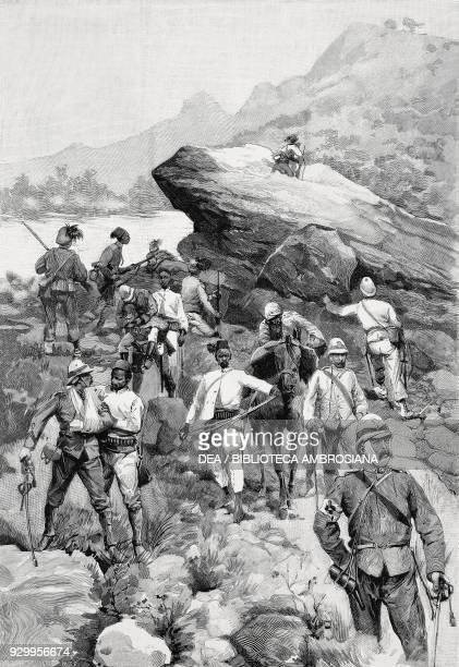 Survivors of the Battle of Adwa retruning to Asmara ItaloAbyssinian War Ethiopia drawing by Eduardo Ximenes from L'Illustrazione Italiana Year XXIII...