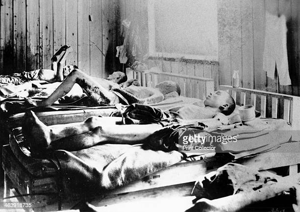 Survivors of the explosion of the Atom bomb at Hiroshima Japan 1945 Beds occupied by casualties suffering the effects of radiation On 6 August 1945 a...