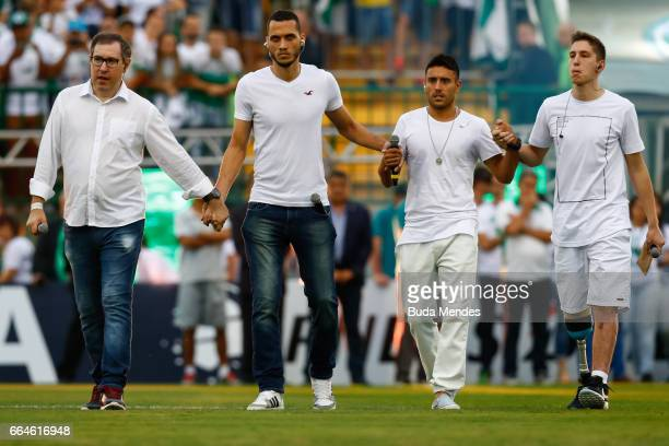 Survivors of the November 28 2016 plane crash in Colombia that killed most of the Chapecoense football team Rafael Henzel Helio Hermito Zampier Neto...