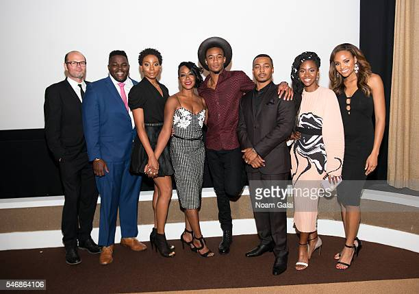 Survivor's Remorse cast members Chris Bauer Catfish Jean Erica Ash Tichina Arnold Jessie T Usher RonReaco Lee Teyonah Parris and Meagan Tandy attend...