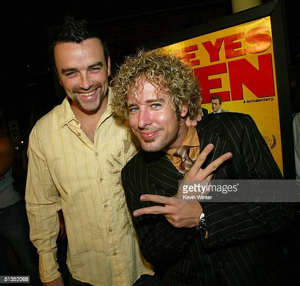 Survivor's Ryan O'Paray and Jonny Fairplay arrive to the premiere of United Artists' film The Yes Men on the opening night of the Silver Lake Film...