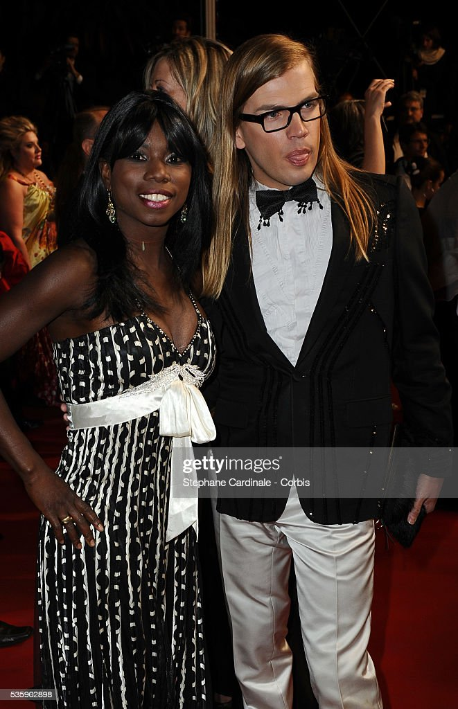 Surya Bonaly and Christophe Guillarme at the premiere of 'Another year' during the 63rd Cannes International Film Festival.