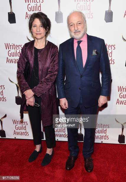 Susan Aciman and Andre Aciman attend the 2018 Writers Guild Awards at Edison Ballroom on February 11 2018 in New York City