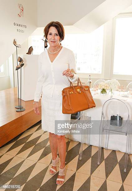 Susan Ahterton at the Susan Atherton and Barneys New York private luncheon for Gianvito Rossi on August 25 2015 in San Francisco California