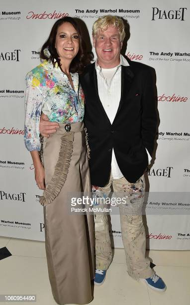 Susan Allan Block and Peter Tunney attend The Andy Warhol Museum's Annual NYC Dinner at Indochine on November 12 2018 in New York New York
