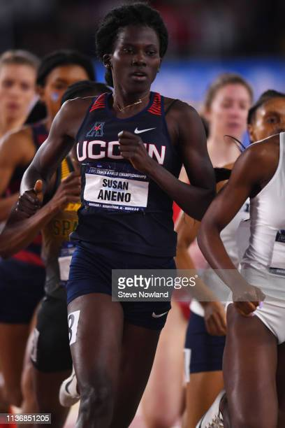 Susan Aneno of the Connecticut Huskies competes in the 800 meter run during the Division I Men'u2019s and Women'u2019s Indoor Track Field...