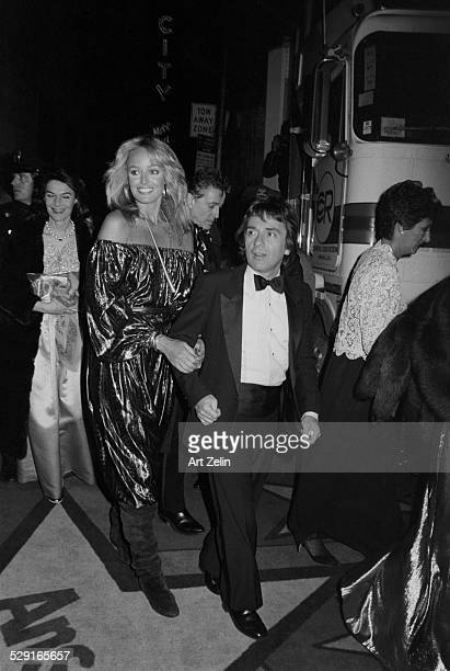 Susan Anton with Dudley Moore on their way to a formal event circa 1970 New York