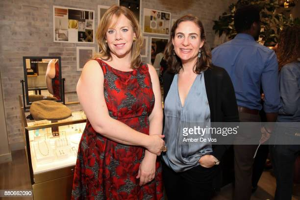 Susan Arndt and Emily Fleisher attend Manhattan Theatre Club Young Patrons event hosted by Monica Vinader and Susan Arndt at Monica Vinader Soho...