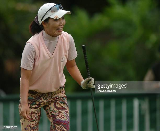 Susan Awaya in action at the Pro-Am event at the 2004 Sony Open.