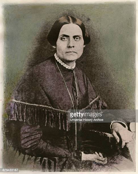 Susan B Anthony American Reformer Leader of Suffrage Movement Portrait from Daguerreotype 1852