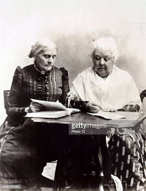 Susan B Anthony and Elizabeth Cady Stanton 1899 Two pioneers in the Equal Rights cause