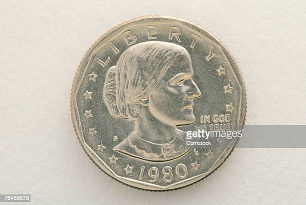 susan b anthony coin silver dollar - susan b anthony stock photos and pictures