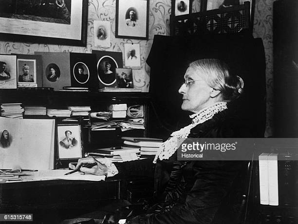 Susan B Anthony organizer of the first women's temperance association and president of the Woman Suffrage Association from 18921900