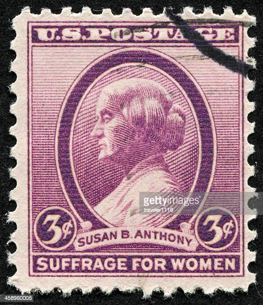 susan b. anthony stamp - susan b anthony stock photos and pictures