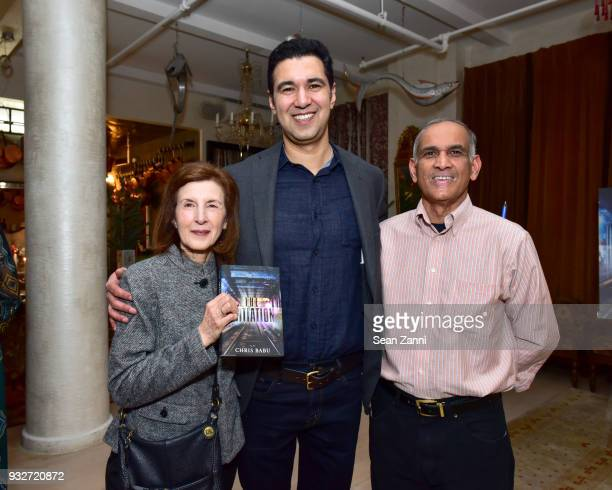 Susan Babu Author Chris Babu and Suresh Babu attend 'The Initiation' Book Launch at Bouley TK on March 15 2018 in New York City