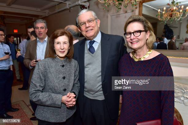 Susan Babu Roberto Azevedo and Ana Azevedo attend 'The Initiation' Book Launch at Bouley TK on March 15 2018 in New York City