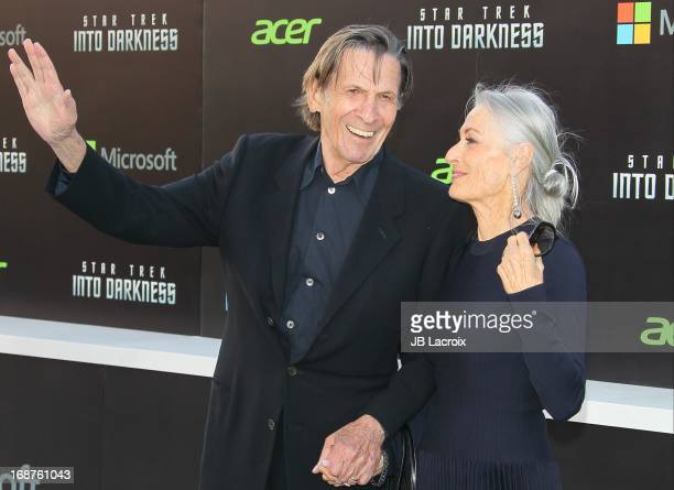 Susan Bay and Leonard Nimoy attend the Los Angeles premiere of 'Star Trek: Into Darkness' held at Dolby Theatre on May 14, 2013 in Hollywood,...