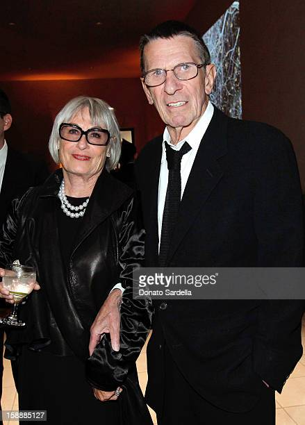 Susan Bay and Leonard Nimoy attends a Hammer Museum gala circa September, 2010 in Westwood, California.