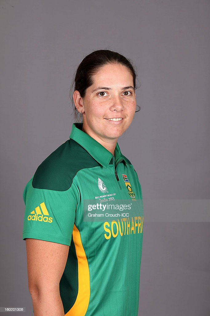 Susan Benade of South Africa poses at a portrait session ahead of the ICC Womens World Cup 2013 at the Taj Mahal Palace Hotel on January 27, 2013 in Mumbai, India.
