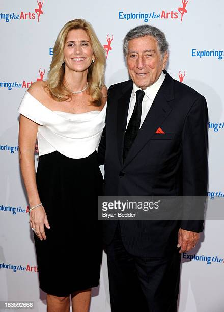 Susan Benedetto and Tony Bennett attend Exploring the Arts Gala to support arts education in public high schools at Cipriani Wall Street on October 7...