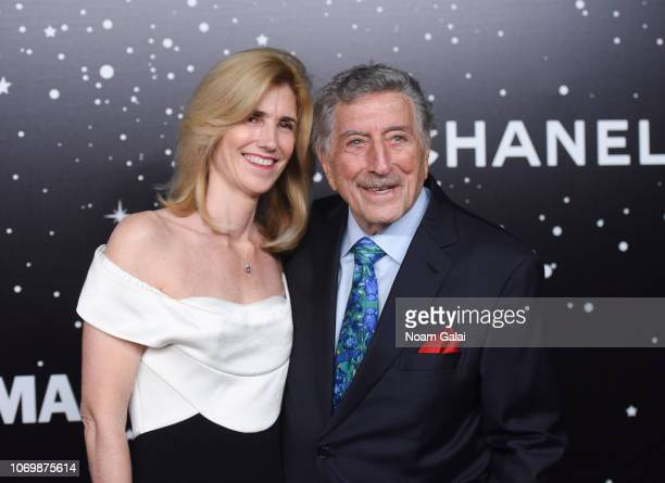 Susan Benedetto and Tony Bennett attend the 2018 Museum of Modern Art Film Benefit A Tribute To Martin Scorsese at Museum of Modern Art on November...