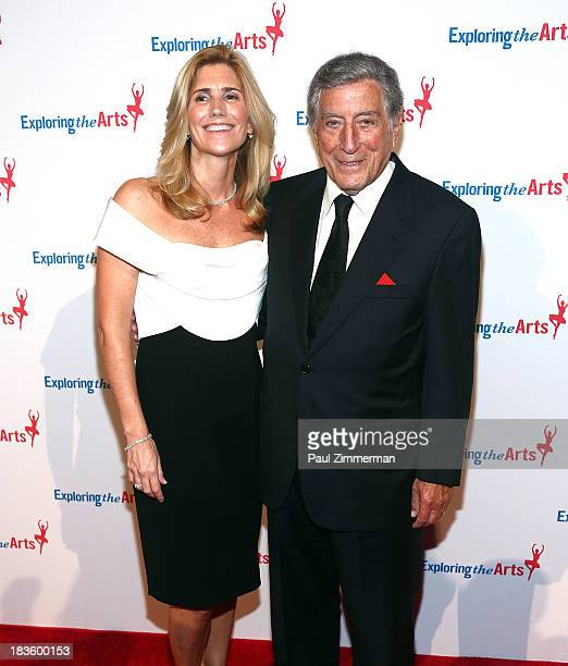 Susan Benedetto and Tony Bennett attend the 7th annual Exploring the Arts Gala at Cipriani Wall Street on October 7 2013 in New York City