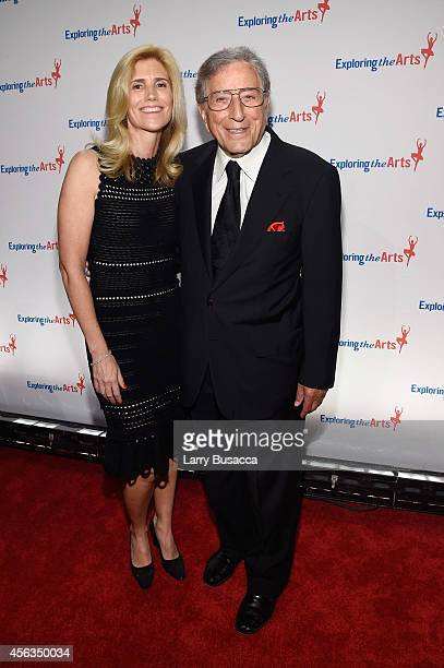 Susan Benedetto and Tony Bennett attend the 8th Annual Exploring the Arts Gala at Cipriani 42nd Street on September 29 2014 in New York City