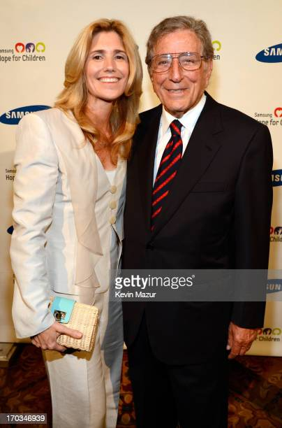 Susan Benedetto and Tony Bennett attend the Samsung's Annual Hope for Children Gala at CiprianiÕs in Wall Street on June 11 2013 in New York City