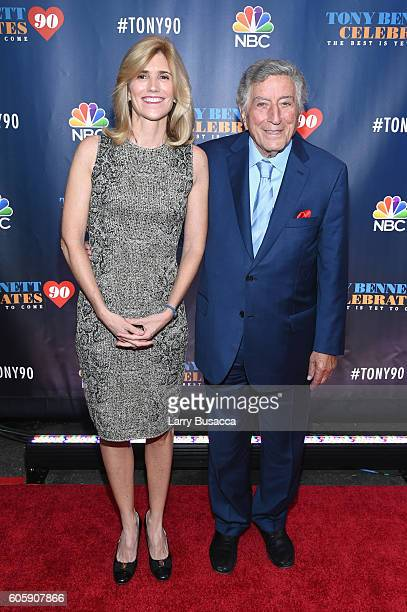 Susan Benedetto and Tony Bennett attend Tony Bennett Celebrates 90 The Best Is Yet To Come at Radio City Music Hall on September 15 2016 in New York...