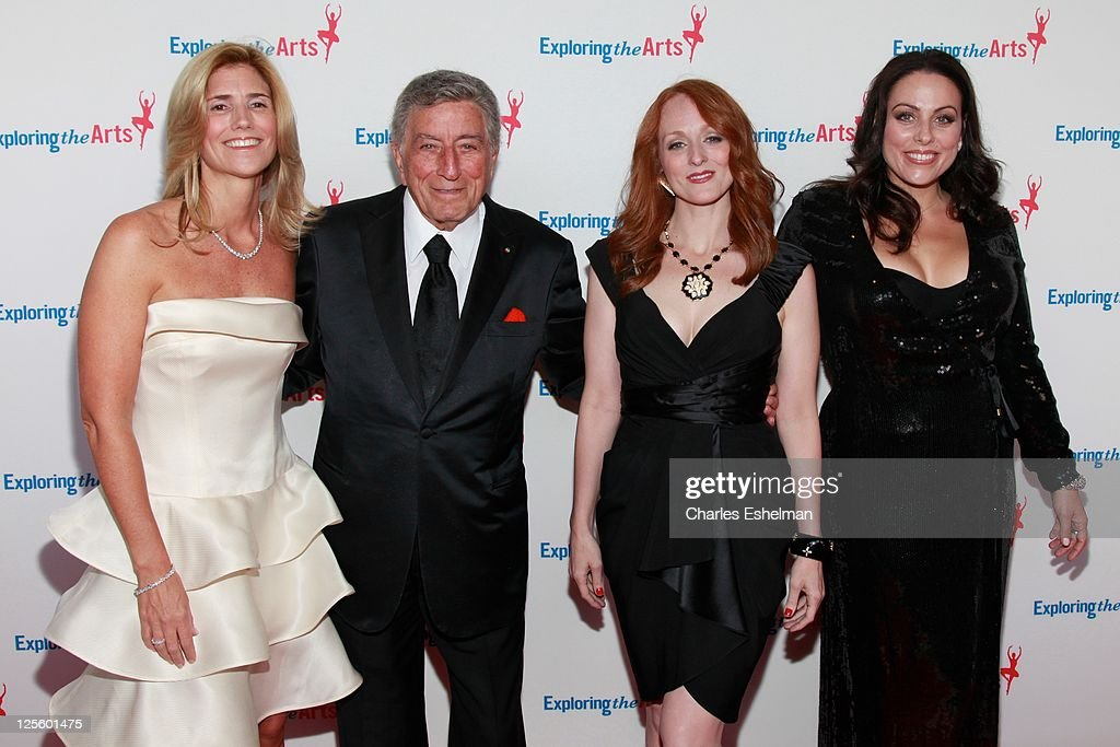 Susan Benedetto, Tony Bennett, Antonia Bennett and Joanna Bennett attend the Tony Bennett 85th birthday gala at The Metropolitan Opera House on September 18, 2011 in New York City.